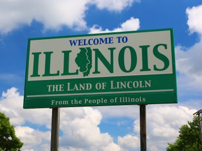 USA Welcome signs - Illinois 2016