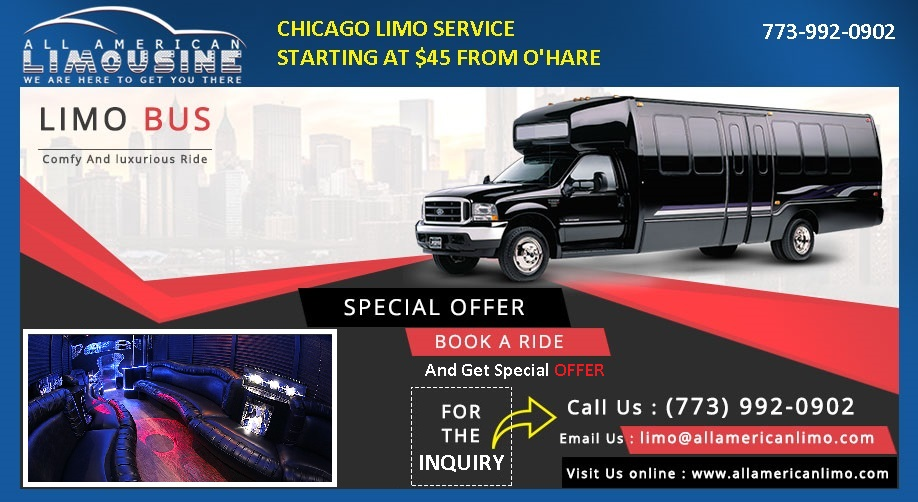 Chicago Limo Service, Airport Limo Service Chicago, Car Service Chicago, ORD, O'Hare Airport Limo, Limo Service to O'Hare, Limo Bus, Chicago Limousine, Cheap Limo Rates, Chicago Limo Rates, Limo Promo, Limo Chicago Deals