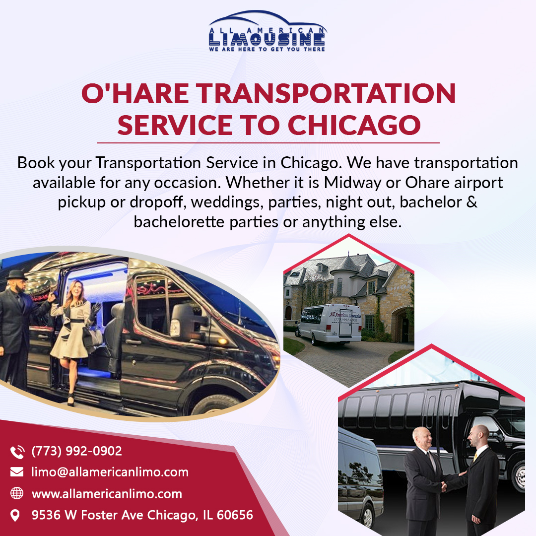 Transportation to O'Hare Airport, Car Service to O'Hare Airport, Chicago Airport Bus Trips, Limo Transportation, Bus Transportation, Transportation to Airport, Signature Flight Support. Sedan, SUV, Van, Shuttle Bus, Party Bus, Stretch Limo, Limousine. 773-992-0902