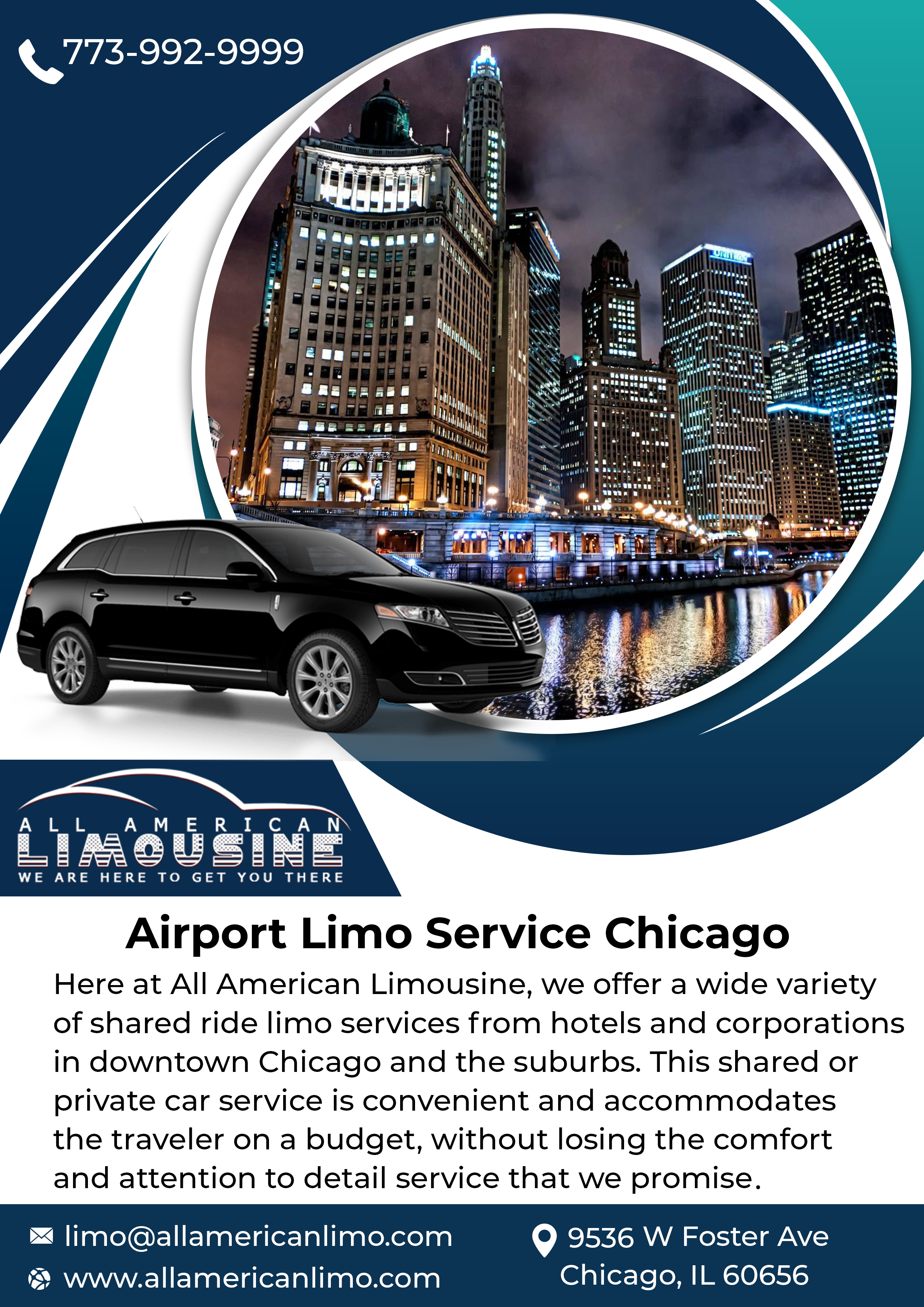 Airport Limo Service Chicago, Ride to O'Hare Airport, Chicago Airport Limo Service