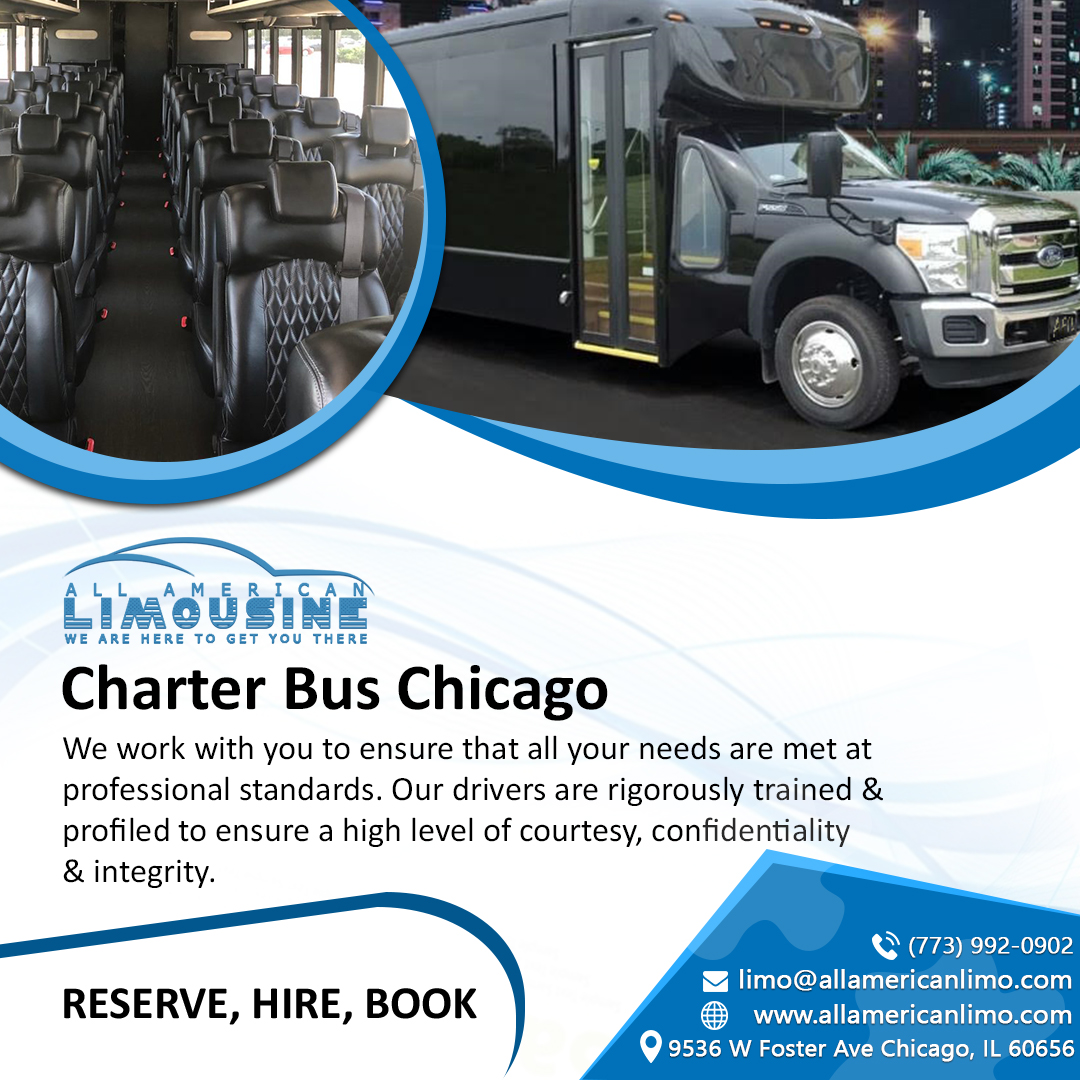Charter Bus Chicago, Charter a Bus Chicago, Charter Bus Rental Chicago, Charter a Bus to Chicago, Charter Bus to O'Hare, Charter Bus to Midway